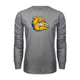Grey Long Sleeve T Shirt-Major - Bulldog Head