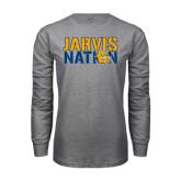 Grey Long Sleeve T Shirt-Jarvis Nation