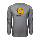 Grey Long Sleeve T Shirt-Baseball