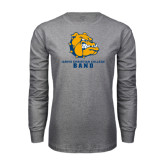 Grey Long Sleeve T Shirt-Band
