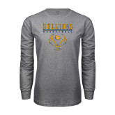 Grey Long Sleeve T Shirt-Basketball in Ball Design