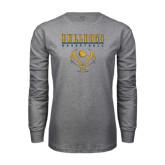 Grey Long Sleeve T Shirt-Basketball in Ball Design