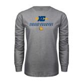 Grey Long Sleeve T Shirt-Cross Country Design