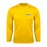 Syntrel Performance Gold Longsleeve Shirt-Arched Jarvis Christian College Bulldogs