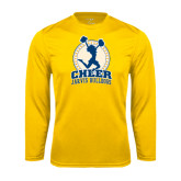 Syntrel Performance Gold Longsleeve Shirt-Cheer Design