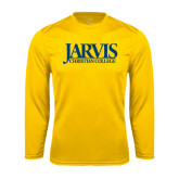 Syntrel Performance Gold Longsleeve Shirt-Jarvis Christian College - Institutional Mark