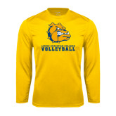 Syntrel Performance Gold Longsleeve Shirt-Volleyball