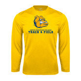 Syntrel Performance Gold Longsleeve Shirt-Track and Field