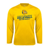 Syntrel Performance Gold Longsleeve Shirt-Can You Dig It - Volleyball Design