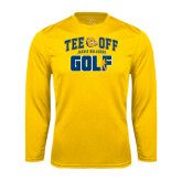 Syntrel Performance Gold Longsleeve Shirt-Tee Off Golf Design