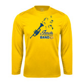 Syntrel Performance Gold Longsleeve Shirt-Band Design