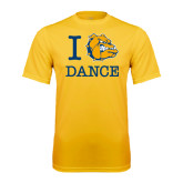 Syntrel Performance Gold Tee-I Love Dance Design