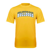 Syntrel Performance Gold Tee-Arched Jarvis Christian College Bulldogs