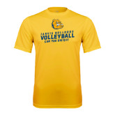 Syntrel Performance Gold Tee-Can You Dig It - Volleyball Design