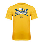Syntrel Performance Gold Tee-Crossed Bats Softball Design