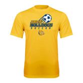 Syntrel Performance Gold Tee-Soccer Ball Stacked Desgin