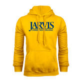 Gold Fleece Hoodie-Jarvis Christian College - Institutional Mark