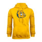 Gold Fleece Hoodie-Major - Bulldog Head