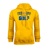 Gold Fleece Hoodie-Tee Off Golf Design