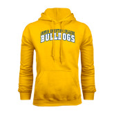 Gold Fleece Hoodie-Arched Jarvis Christian College Bulldogs