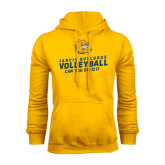 Gold Fleece Hoodie-Can You Dig It - Volleyball Design