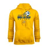 Gold Fleece Hoodie-Soccer Ball Stacked Desgin