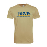 Next Level SoftStyle Khaki T Shirt-Jarvis Christian College - Institutional Mark