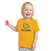 Toddler Gold T Shirt-Jarvis Chrsitian College Bulldogs w/ Major Stacked