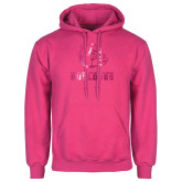 Fuchsia Fleece Hoodie-Jarvis Chrsitian College Bulldogs w/ Major Stacked Foil