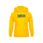 Youth Gold Fleece Hoodie-Jarvis Christian College - Institutional Mark
