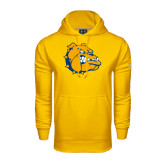 Under Armour Gold Performance Sweats Team Hoodie-Major - Bulldog Head