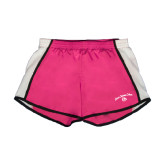 Ladies Fuchsia/White Team Short-Arched Jarvis Christian College - Script