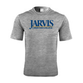 Performance Grey Heather Contender Tee-Jarvis Christian College - Institutional Mark
