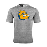 Performance Grey Heather Contender Tee-Major - Bulldog Head