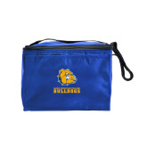 Six Pack Royal Cooler-Jarvis Chrsitian College Bulldogs w/ Major Stacked