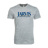 Next Level SoftStyle Heather Grey T Shirt-Jarvis Christian College - Institutional Mark