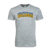 Next Level SoftStyle Heather Grey T Shirt-Arched Jarvis Christian College Bulldogs