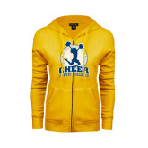 ENZA Ladies Gold Fleece Full Zip Hoodie-Cheer Design