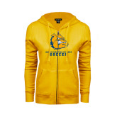 ENZA Ladies Gold Fleece Full Zip Hoodie-Soccer
