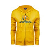 ENZA Ladies Gold Fleece Full Zip Hoodie-Cross Country