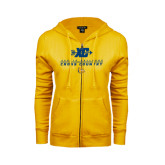 ENZA Ladies Gold Fleece Full Zip Hoodie-Cross Country Design