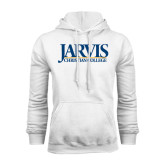 White Fleece Hoodie-Jarvis Christian College - Institutional Mark