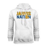 White Fleece Hoodie-Jarvis Nation