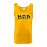 Gold Tank Top-Jarvis Christian College - Institutional Mark