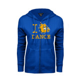 ENZA Ladies Royal Fleece Full Zip Hoodie-I Love Dance Design
