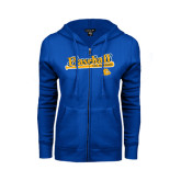 ENZA Ladies Royal Fleece Full Zip Hoodie-Baseball Bat Design