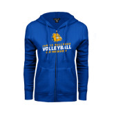 ENZA Ladies Royal Fleece Full Zip Hoodie-Can You Dig It - Volleyball Design