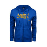 ENZA Ladies Royal Fleece Full Zip Hoodie-Track and Field Design