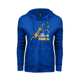 ENZA Ladies Royal Fleece Full Zip Hoodie-Band Design