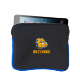 Neoprene Black w/Royal Trim Zippered Tablet Sleeve-Jarvis Chrsitian College Bulldogs w/ Major Stacked